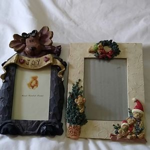 (2) Christmas picture frames
